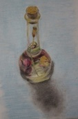 Glass object in pastels from March 2016