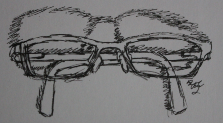 Glasses sketch